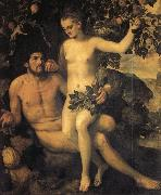 Frans Floris de Vriendt Adam and Eve oil painting